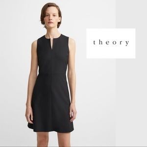 Theory Italian Stretch Wool Split Front Dress